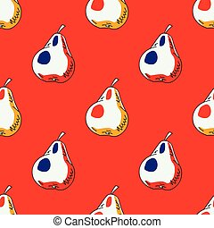 Pears seamless pattern