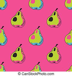 Pears seamless pattern