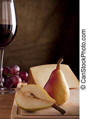 Pears with Cheese and Wine