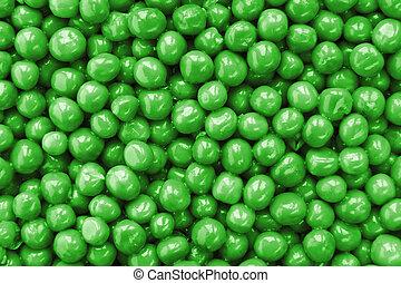 Peas closeup background