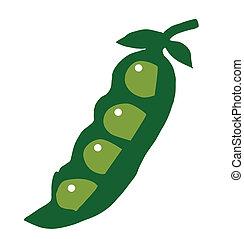 Peas green cartoon vector illustration