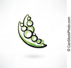 peas grunge icon