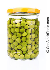 peas in a glass jar