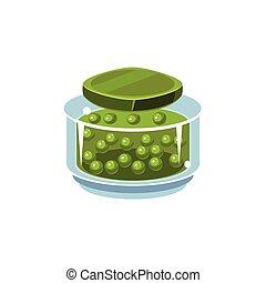 Peas In Transparent Jar