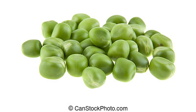 Peas isolated on white background