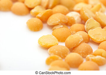 peas on a white background. macro