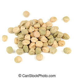 Peas Seeds Isolated on White Background