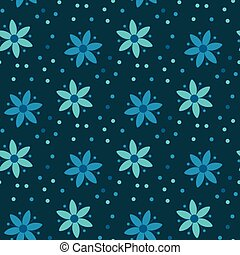 Floral deep night blueprint cyan seamless pattern floral vector peasant style simple floral pattern on blue color naive traditional nostalgic flower seamless pattern vector malvernweather Image collections