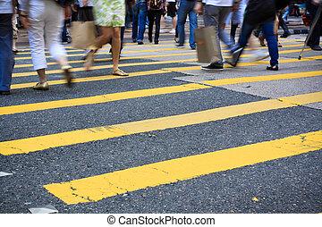 peatón, crosswalk