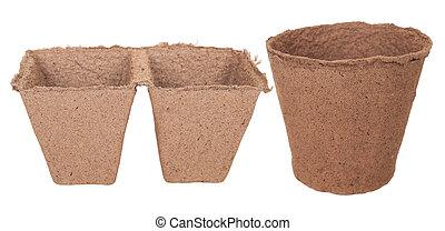 Peat pots for seedlings