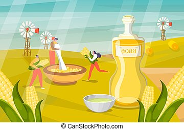 peau, homme, container., lotions, cosmétique, rassembler, masques, gens, vecteur, herbier, produit, usines, illustration., procédés, faire