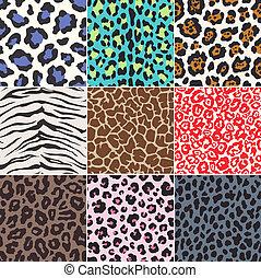 peau, modèle, tissu, seamless, animal