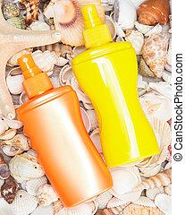 peau, produits, cosmétique, soin, sunscreen