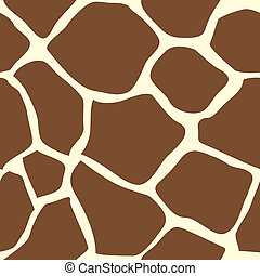 peau, seamless, girafe, carrelage, animal