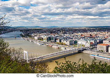 Peautiful panorama of Budapest city