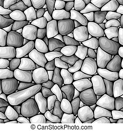 vector seamless background with a pebble