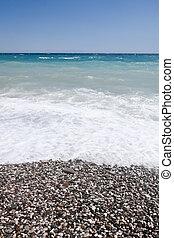 Pebble beach and beautiful sea