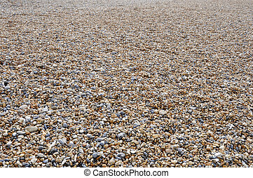 Brighton pebble beach in UK