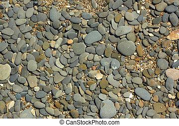 Pebble beach close up