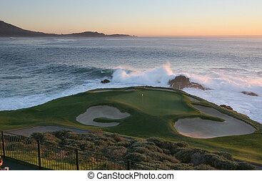 Pebble Beach golf course, Monterey, - A view of Pebble Beach...