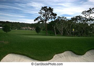Pebble beach golf links, Monterey, - Pebble beach golf links...