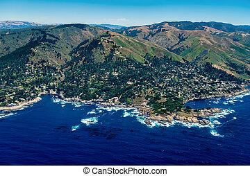 Pebble Beach in California Aerial Photo