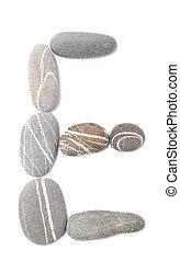 pebble e isolated on white