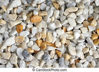 Pebble texture of grey, brown and white colors