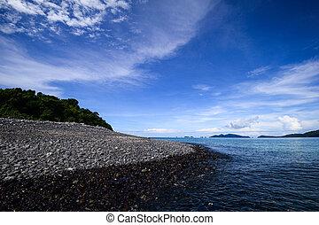 Pebble stone on the beach