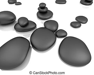 pebble stones - 3d rendered illsutration of some isolated...