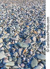 Pebble stones on the beach