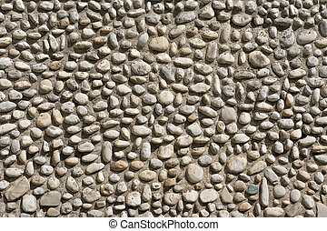 Pebble texture wall
