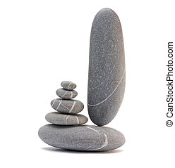 pebble tower isolated on a white background