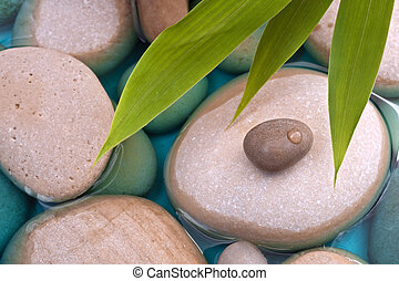 pebbles bamboo water