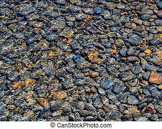 Pebbles in stream