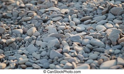 Pebbles on the beach close up. - Pebbles on the beach close...