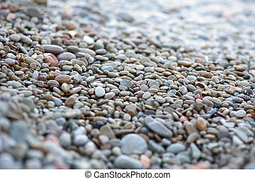 pebbles on the sea shore