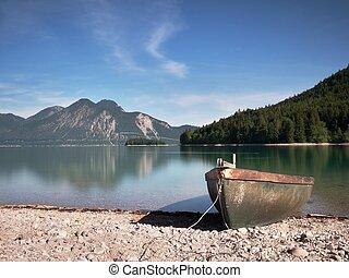 Pebbles shore of beautiful German Lake
