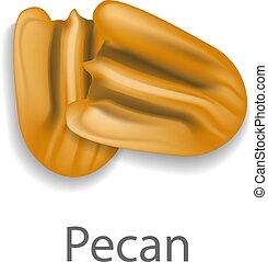 Pecan mockup, realistic style - Pecan mockup. Realistic...