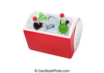 pecho, hielo, bebidas