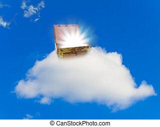 pecho, tesoro, nube