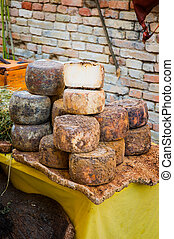 Pecorino Cheese - A heap of traditional italian pecorino ...