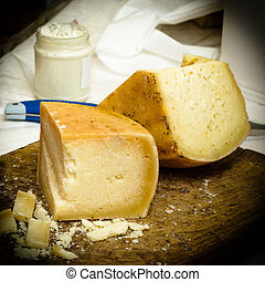Pecorino - pieces of italian cheese