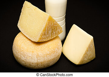 Pecorino - set of sardinian cheese made of sheep's milk