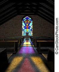 pecsétes pohár ablak, templom