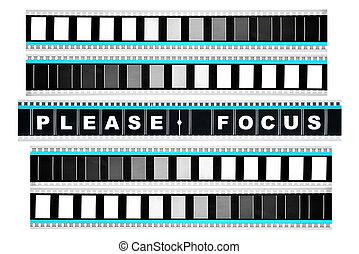 pedaço, de, 35 mm, movimento, película