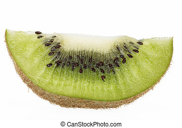 pedaço, de, verde, kiwi, isolado, branco, fundo, cima