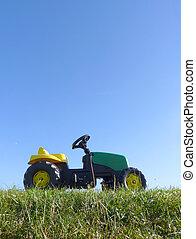 pedaal, speelbal, kindertijd, tractor, auto