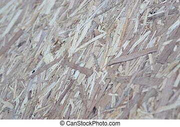 pedacitos, marrón, osb, chapa, cima, fondo., sanded, vista, madera, plano de fondo, superficie, tablas, de madera, hecho