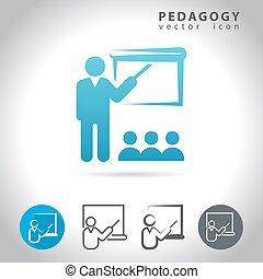 pedagogia, jogo, ícone